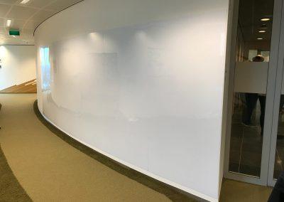 Magnetisch whiteboard wand Rabobank Utrecht