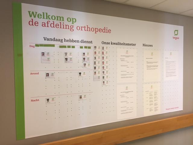 Tergooi Ziekenhuis afdelingsplanbord